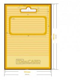 Support en carton avec carte en carton